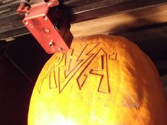 Although I wouldn't eat a pumpkin raw - it was a lot of fun to laser engrave one and cut all the way through !    We figured we would show some Richmond, Virginia pride - so we kept it simple.     We plan on laser engraving lots of food in the future. Let us know if you have any suggestions and we'll do it.     http://www.lazerengravingpros.com