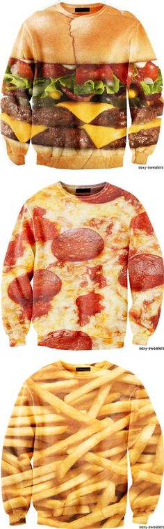 I like the pizza` jumper as i feel it could be very fitting as i could put this jumper in a pizza styled box for more effect of it being a pizza