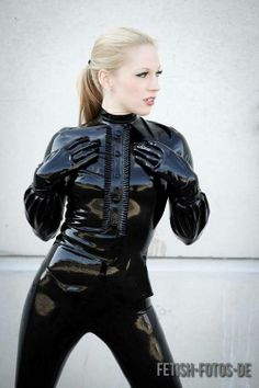 black latex girl