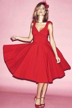 The Pretty Dress Company Ascot Red Swing Dress 102 20 13513 4