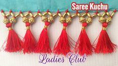 Saree Tassels I Saree Kuchu Making using Beads I Gonde Designs I Latest ...