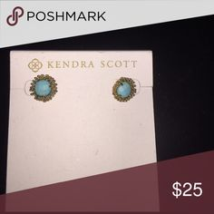 Kendra Scott turquoise studs Worn a couple times! In excellent condition! Kendra Scott Jewelry Earrings
