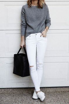 Proof That White Jeans Go with Everything #purewow #fashion