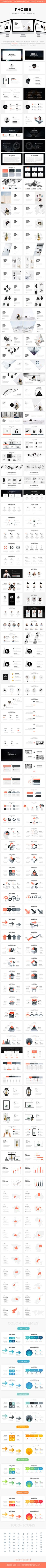 Phoebe - Creative Powerpoint Template - 200+ Well Designed Slides