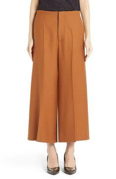 MARNI Wide Leg Crop Wool Trousers. #marni #cloth #