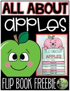 All About Apples Flip Book FREEBIE by A Library and Garden | TpT