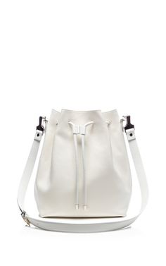 Large Bucket Bag In White Leather by Proenza Schouler for Preorder on Moda Operandi
