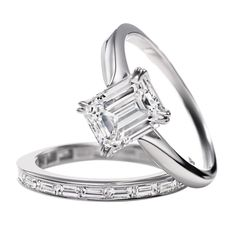 Quite frankly... a girl can dream....     This is the ring I want since I was a child.... Harry Winston Emerald-cut Solitaire.... (Ignore the wedding band; I want a plain and thin band.)