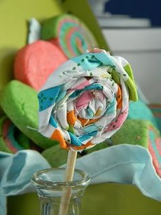 twisted fabric lollipop party decoration