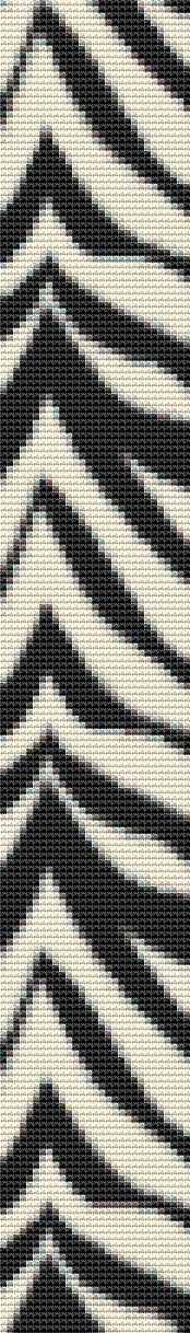 #Zebra Stripe Counted Cross Stitch Bookmark #Pattern #xstitch