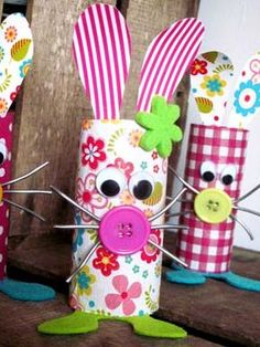 Toilet Paper Roll Crafts - Get creative! These toilet paper roll crafts are a great way to reuse these often forgotten paper products. You can use toilet paper rolls for anything! creative DIY toilet paper roll crafts are fun and easy to make. Easter Crafts For Kids, Preschool Crafts, Diy For Kids, Diy Projects Easter, Craft Projects, Toilet Paper Roll Crafts, Paper Crafts, Spring Crafts, Easter Bunny