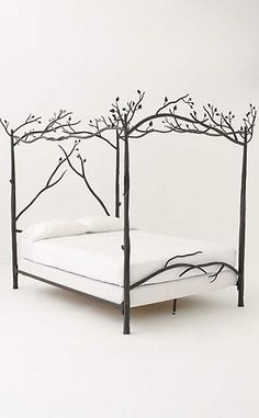 Would be amazing in a little girls room. Forest Canopy Bed #anthroregistry