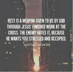 Rest on the Lord