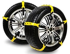 Easy to Install Snow Anti-Skid Snow Chain Car Security Tyre Belt Clip-on Chain Mud and Sand Tire Traction Device for Cars and Small SUVs Each Snow Chain with 3 Steel Chains
