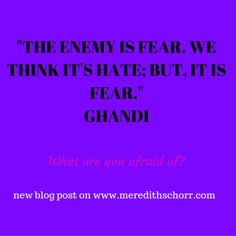 New blog pots on fear. #amblogging #amwriting
