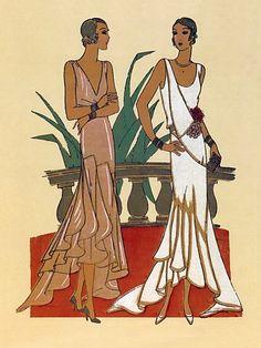 art deco fashion drawings -
