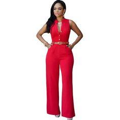 Women's Rompers Jumpsuit Pant Elegant Casual Office Clothing Asst. Colors