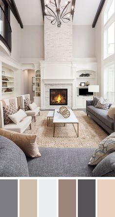 Grey And Brown Living Room, Brown Couch Living Room, Cozy Living Rooms, Home Living Room, Gray And Brown, Brown Living Room Furniture, Living Room Decor With Grey Couch, Gray Living Room Walls, Living Room Lamps