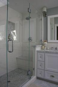 Vanity Next To Shower Marble Showers, Subway Tile Showers, Master Bath  Remodel, Shower