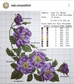 Most up-to-date Totally Free Cross Stitch flowers Thoughts Stitch Flowers Cross Stitch Flowers -Cross Stitch Flowers – Cross Stitch Borders, Cross Stitch Rose, Cross Stitch Flowers, Cross Stitch Kits, Cross Stitch Charts, Cross Stitch Designs, Cross Stitching, Cross Stitch Embroidery, Embroidery Patterns