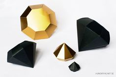 DIY Paper Diamonds with FREE Template   Hungry Heart