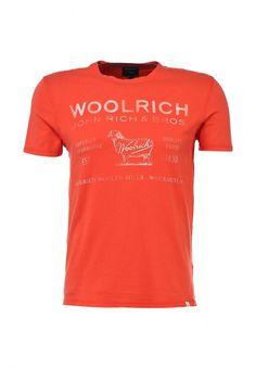 Футболка Woolrich мужская. Цвет: красный. Сезон: Весна-лето 2014. С бесплатной доставкой и примеркой на Lamoda. http://j.mp/1nBSA2Q
