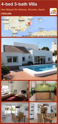 4-bed 3-bath Villa in San Miguel De Salinas, Alicante, Spain ►€350,000 #PropertyForSaleInSpain