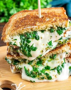 21 Mind-Blowing Grilled Cheese Sandwich Recipes: Easy Cheesy Vegan Spinach Pesto Grilled Cheese