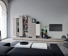 Novamobili Design Hängeschränke H 128 in 32,45 oder 60 cm Breite