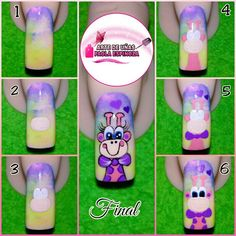 Manicure, Nails, Santa, Cartoon, Design, Giraffes, Ideas, Enamels, Polish Nails