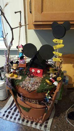 Mickey and Minnie mouse fairy garden | Fairy Gardens | Pinterest ...