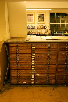 I love old flat files.
