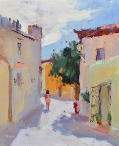 Lena Rivo's Painting Blog: Noontime in Cascais