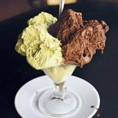 Gelato-A Sicilian favorite, this rich dessert is creamy, cool, and wonderfully satisfying. We like to pair it with Pistachio Gelato. Chocolate Gelato Recipe, Chocolate Desserts, Chocolate Sorbet, Decadent Chocolate, Homemade Chocolate, Cold Desserts, Frozen Desserts, Frozen Treats, Italian Desserts
