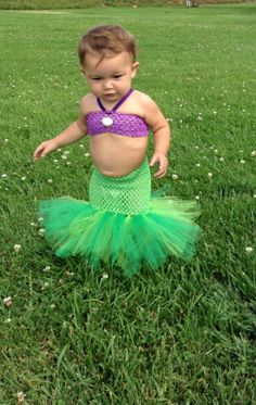 Disney inspired little mermaid tutu set