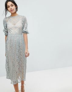 7c2a7bcefc03 online shopping for Little Mistress All Over Lace Maxi Dress With Balloon  Sleeve Detail from top store. See new offer for Little Mistress All Over  Lace Maxi ...
