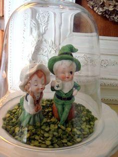 Leprechauns... ♣ (St. Patrick's Day, cloche, decor)