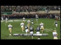 [HD] MSU Vs Notre Dame - Fake FG Pass play to win the game in OT - 09/18/2010
