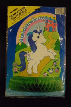 Vintage My Little Pony G1 Glory honeycomb centerpiece New in package 1984 Hasbro   eBay