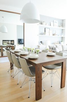 Grey Neutral Furnishings Create An Timeless Appeal 5 - love the light grey and brown combination