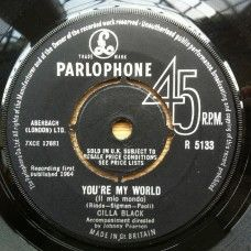 """7"""" 45RPM You're My World/Suffer Now I Must by Cilla Black from Parlophone (R 5133)"""