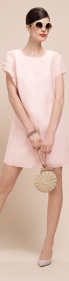 Paule Ka inspired chiffon dress- Choose your fabric combination. Custom made to your measurments by Pink Fashion, Fashion Beauty, Fashion Dresses, Womens Fashion, Simple Dresses, Casual Dresses, Short Dresses, Mode Rose, Looks Chic