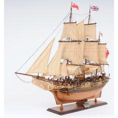 Historic sailing ships HMS Bounty model ship