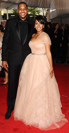 TV personality Lala Anthony with her husband basketball player Carmelo Anthony at the 2011 Costume Institute Met Gala