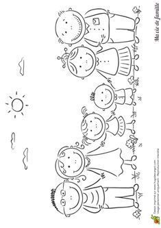 Drawing Lessons For Kids, Art Drawings For Kids, Doodle Drawings, Easy Drawings, Art For Kids, Preschool Themes, Preschool Family, Stick Figure Drawing, Stick Figure Family