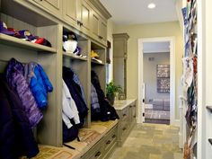 Love the large cubbies in the mudroom and high storage for off-season things.