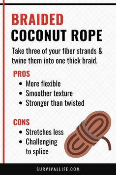 Learning how to make a coconut rope from scratch means having a backup plan should anything happen to your store-bought survival ropes. Find out how to make one. #braidedcoconutrope #braidedrope #coconutrope #survivalskills #survivaltips #survival #preparedness #gunassociation