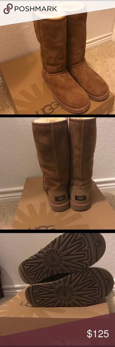 Classic tall uggs! Size 8 Worn a few times! Poshmark I can do 125 and 🅿️🅿️ I'm willing to do 115 (including shipping! UGG Shoes Winter & Rain Boots
