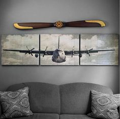 A Simpler Time offers retro and vintage style personalized signs, unique aviation gifts including exclusive replica wood antique propellers and aviation artwork. We also offer profession gifts, nautical decor and personalized engraving on many items. C 130, Airplane Bedroom, Airplane Decor, 1950s Decor, Retro Home Decor, Deco Aviation, Aviation Furniture, Kids Furniture, Suspension Design