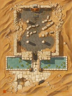 Fantasy Town, Fantasy Map, Desert Map, Isometric Map, Scale Map, Rpg Map, Dungeon Maps, Me On A Map, Map Design